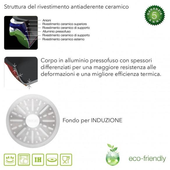 Padella Ceramica Antiaderente cm 30 Induzione