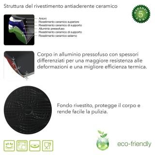 Teglia Forno Antiaderente Ceramica L CM 38X28