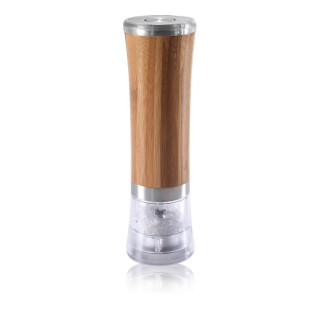 Electrical Salt or Pepper Grinder - Bamboo and Ceramic