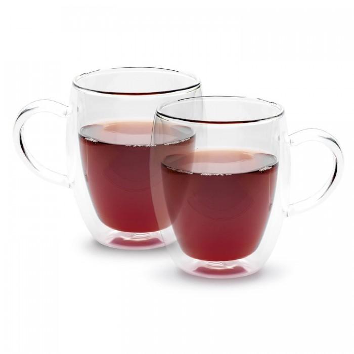 Tazze Tè Termiche Vetro Borosilicato Doppia Parete