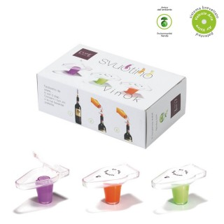 3PCS SET VACUUM WINECAP MIXED COLORS