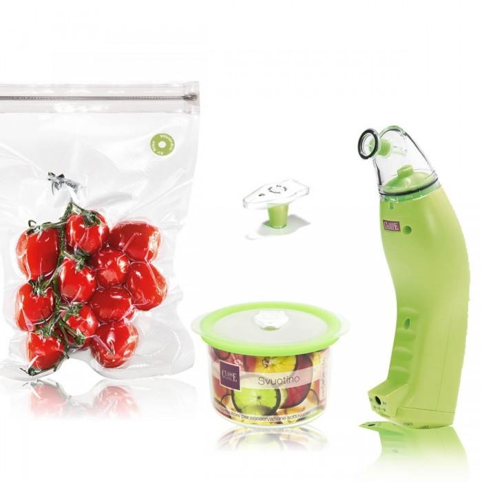 Macchina per conservare Sottovuoto colore Verde - Kit Base - Svuotino