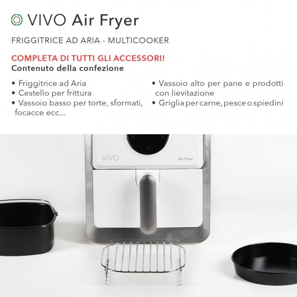 FRIGGITRICE AD ARIA MULTICOOKER | VIVO Air Fryer