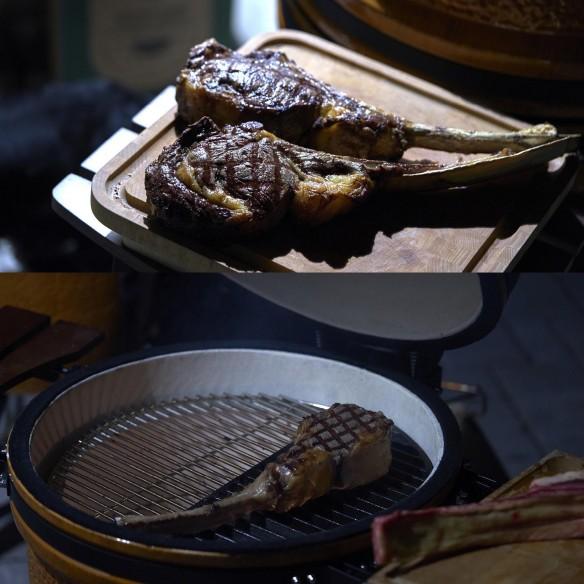 Kamado Barbecue a carbone Large - Bistecca