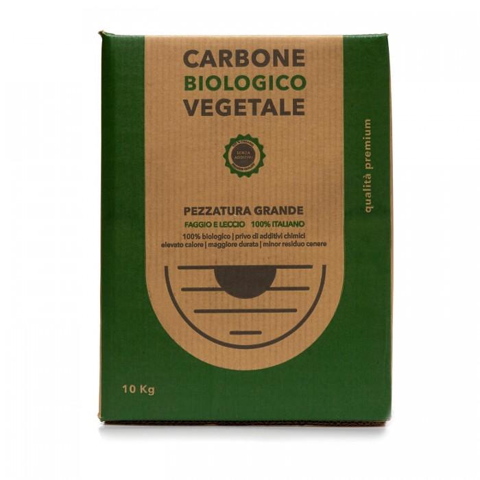 Carbone Vegetale di Legna di alta Qualità - Faggio e Leccio 10Kg - Pezzatura Grande