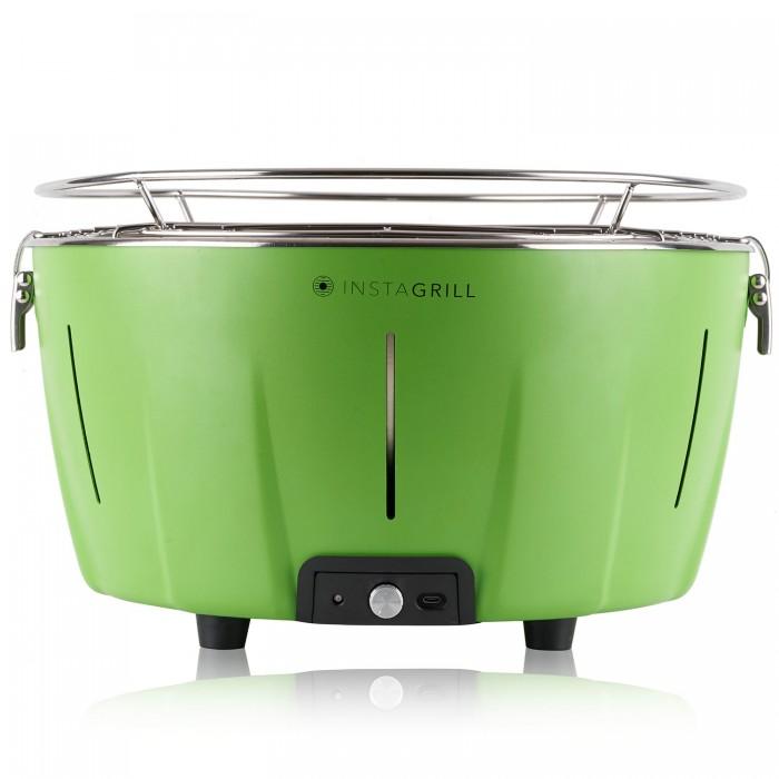 Barbecue da tavolo senza fumo portatile InstaGrill frontale colore Verde